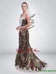 2015 Sturning Mermaid Sweetheart Camo Prom Dresses in Multi Color