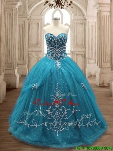 New Arrivals Big Puffy Sweet 16 Dress in Teal