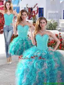 Best Selling Big Puffy Detachable Quinceanera Dresses with Beading and Ruffles