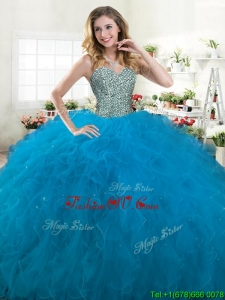 Best Selling Big Puffy Quinceanera Dress with Beading and Ruffle