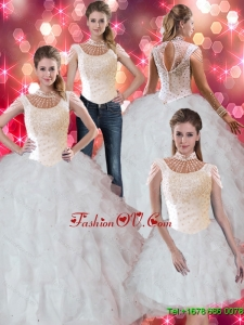Prefect Ruffles and Beaded Quinceanera Dresses for 2015 Fall