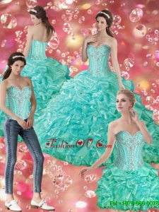 Elegant Ball Gown Sweetheart Quinceanera Dresses with Beading For 2015 Summer