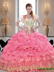 Comfortable Sweetheart Sweet Sixteen Dresses with Appliques and Beading