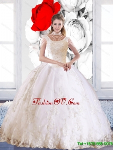 Prefect 2015 Fall Laceed and Beaded Quinceanera Dress