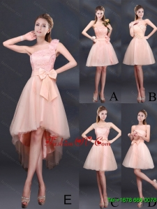 2015 Lace Up Organza Dama Dress with A Line