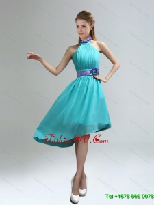 Luxurious High Neck Asymmetrical Multi-color Dama Dress