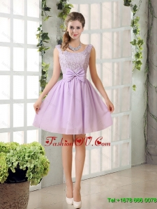 Beautiful Chiffon A Line Dama Dress with Bowknot
