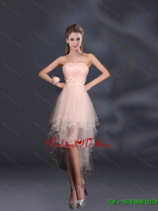 Appliques Strapless Ruffles Organza 2015 Sturning Dama Dresses