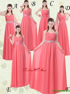 Exquisite Watermelon Dama Dresses with Ruch and Beading