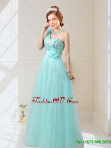New Style Empire Lace Up Hand Made Flowers Dama Dresses
