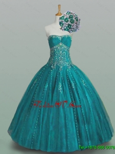 Custom Made Strapless Beaded Quinceanera Dresses with Appliques