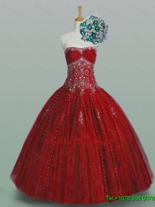 Custom Made Strapless Quinceanera Dresses with Beading and Appliques