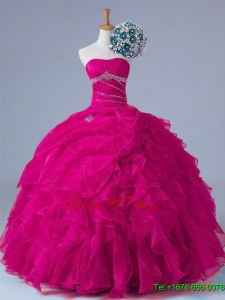 2015 Custom Made Quinceanera Dresses in Fuchsia