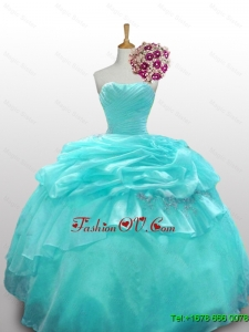 2015 Custom Made Quinceanera Dresses with Paillette and Ruffled Layers