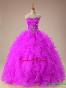 2015 Summer Sweetheart Custom Made Quinceanera Dresses with Beading