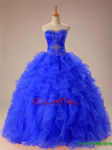 Custom Made Beaded and Ruffles Quinceanera Dresses in Organza