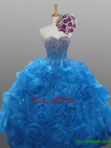 Custom Made Quinceanera Dresses in Organza for 2015 Fall