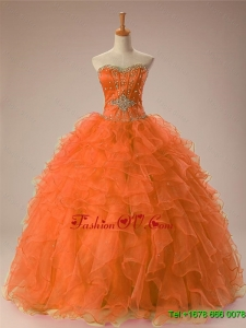 Custom Made Sweetheart Beaded Quinceanera Dresses in Organza