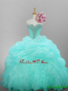 Custom Made Sweetheart Beaded Quinceanera Dresses with Ruffled Layers