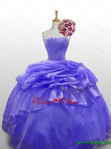 Real Sample Beaded and Paillette Quinceanera Dresses with Ruffled Layers for 2015