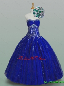 Real Sample Strapless Beaded Quinceanera Dresses for 2015