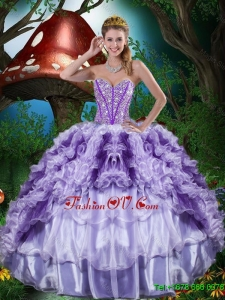 Gorgeous Sweetheart Quinceanera Dresses with Beading and Ruffles for 2016
