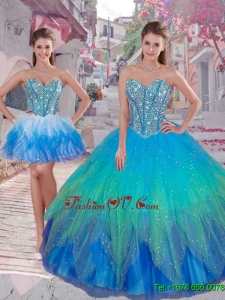 Pretty Ball Gown Detachable Quinceanera Dresses in Multi Color