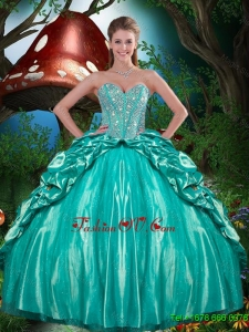 Pretty Beaded and Ruffled Layers Quinceanera Dresses in Taffeta for 2015