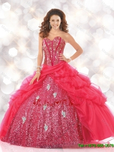 Sturning Sweetheart Sweet 16 Dresses with Sequins and Beading for 2016