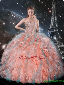 The Super Hot Ruffles and Beaded Quinceanera Dresses in Multi Color