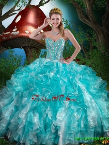 2016 Popular Quinceanera Dresses with Beading and Ruffles