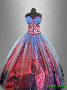 2016 Perfect Sweetheart Quinceanera Gowns with Beading and Ruffles