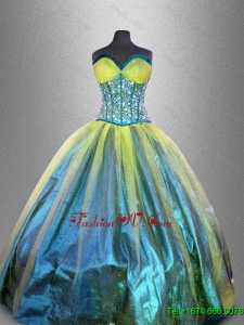 Elegant Sweetheart Multi Color Quinceanera Dresses with Beading