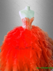 Fall Beautiful Sweetheart Quinceanera Gowns with Beading for 2016