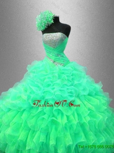 Ruffles and Sequined Beautiful Sweet 16 Dresses with Strapless