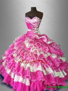 Multi Color Fashionable Quinceanera Dresses with Beading for 2016