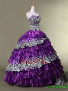 New Arrival Sweetheart Quinceanera Dresses with Ruffled Layers for 2016