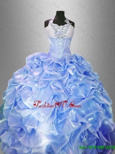 2016 Pretty Lavender Quinceanera Gowns with Hand Made Flowers