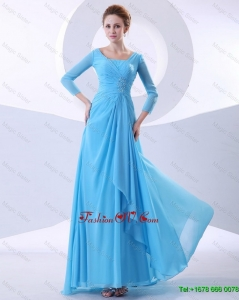 2016 Gorgeous Beautiful Fashionable Beading Aqua Blue Prom Dresses in 2016