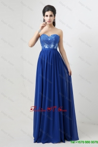 2016 Hot Sale New Arrivals Sweetheart Blue Prom Dresses with Appliques