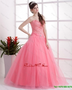 New Arrivals A Line Sweetheart Prom Dresses in Watermelon
