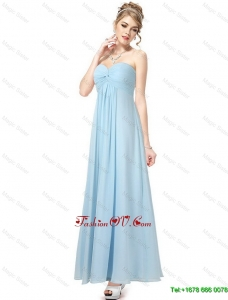 2016 Cheap Perfect Pretty Vintage Ankle Length Sweetheart Prom Dresses in Light Blue