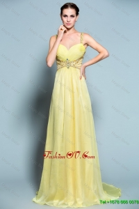 Classical Luxurious Vintage Popular Empire Straps Prom Dresses with Beading