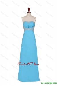 2016 Fall Empire Strapless Prom Dresses with Beading in Baby Blue