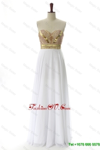 Cheap Sweetheart Custom Made Prom Dresses with Beading and Sequins