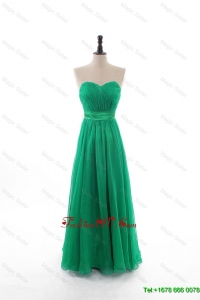 2016 Spring Empire Sweetheart Prom Dresses with Belt