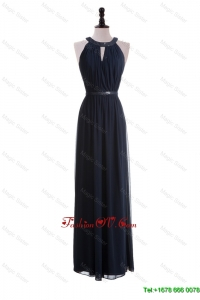2016 Custom Made Empire Halter Top Prom Dresses with Belt