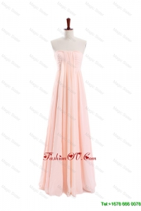 Modest Empire Strapless Ruching Prom Dresses for Homecoming