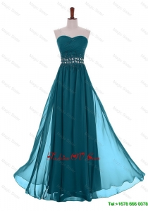 Modest Empire Sweetheart Beaded Prom Dresses with Belt