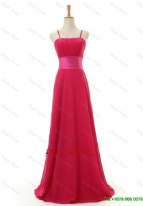 Most Modest Spaghetti Straps Long Red Prom Dress for 2016